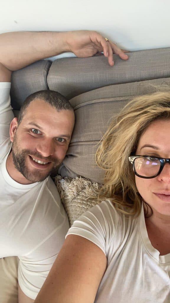 Couple celebrating pregnancy